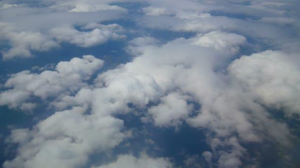 Clouds airplane window