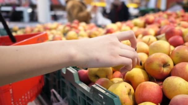Woman fruit vegetable supermarket marketplace
