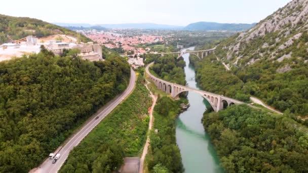 Train viaduct mountains bridge forest city