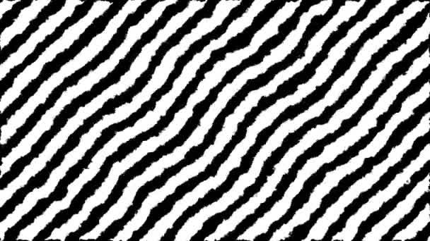 Přesun zebra otisk 4k animace. Dekorace monochromatické diagonální čáry. Použitelné na pozadí, tapety, transparenty, prezentace