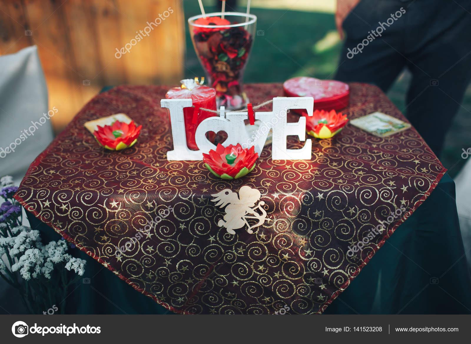 Fine Valentine Day Decor Love Story Decorated Table Hearts Download Free Architecture Designs Scobabritishbridgeorg
