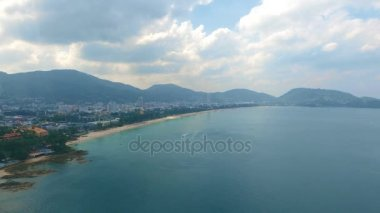 Aerial video of Patong Beach in Phuket, South of Thailand