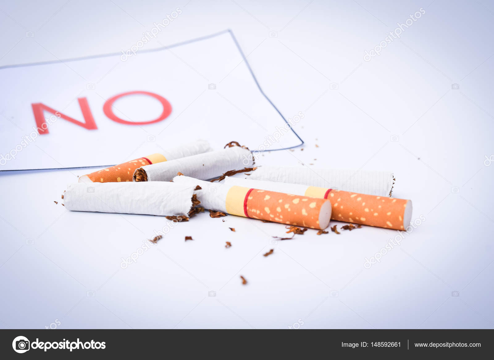 Cigarette With No Texture World No Tobacco Day Concept Stock Photo C Apichart609 Gmail Com 148592661