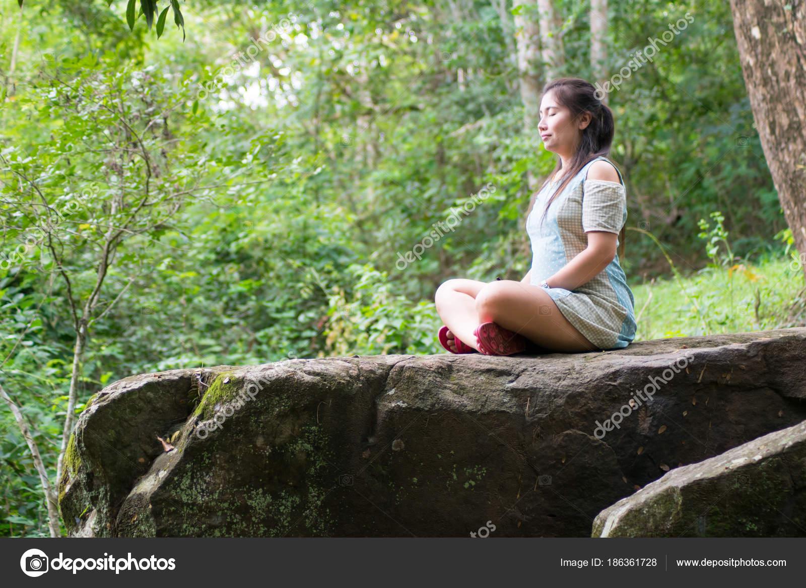 Meditation stock photo. Image of grass, lifestyle
