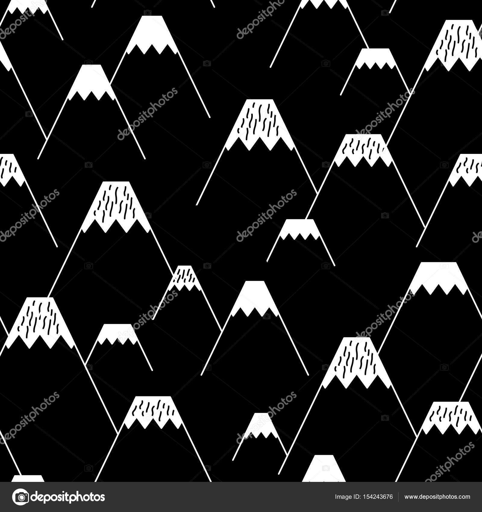 Popular Wallpaper Mountain Pattern - depositphotos_154243676-stock-illustration-mountain-vector-seamless-pattern-black  Best Photo Reference_273810.jpg