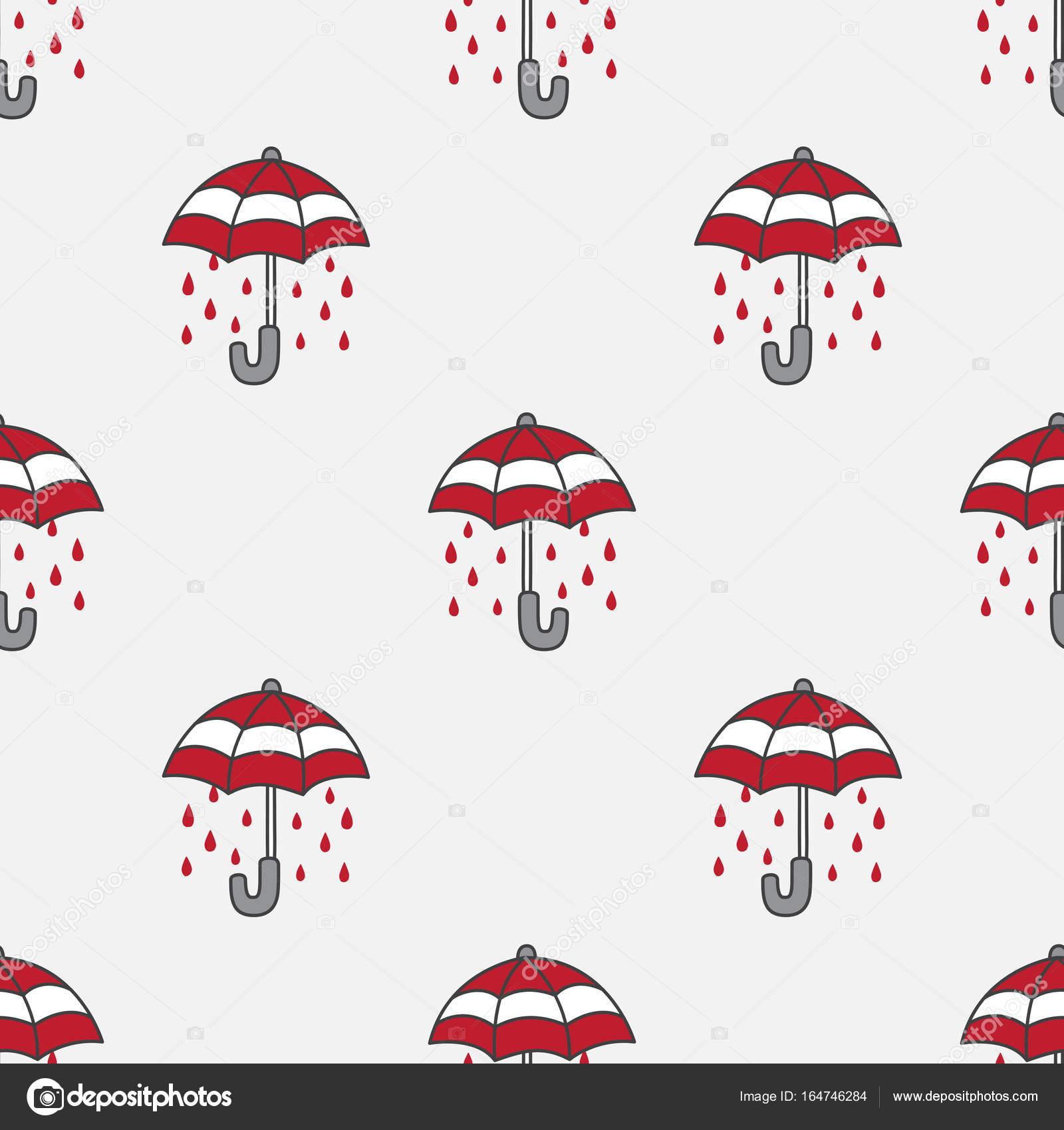 Vector de doodle de lluvia paraguas transparente de fondo fondo de ...