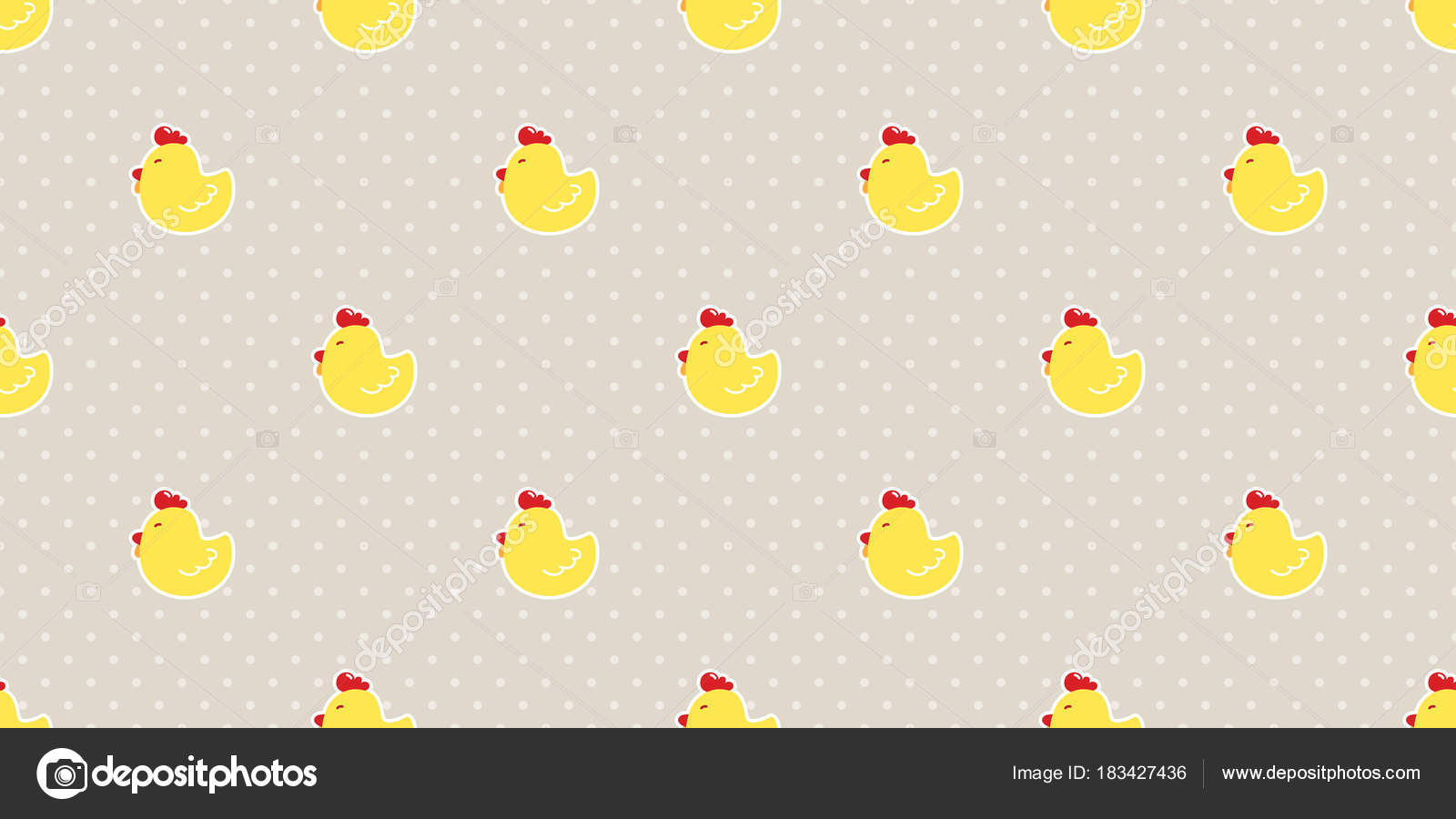 Chicken Egg Easter Seamless Pattern Vector Isolated