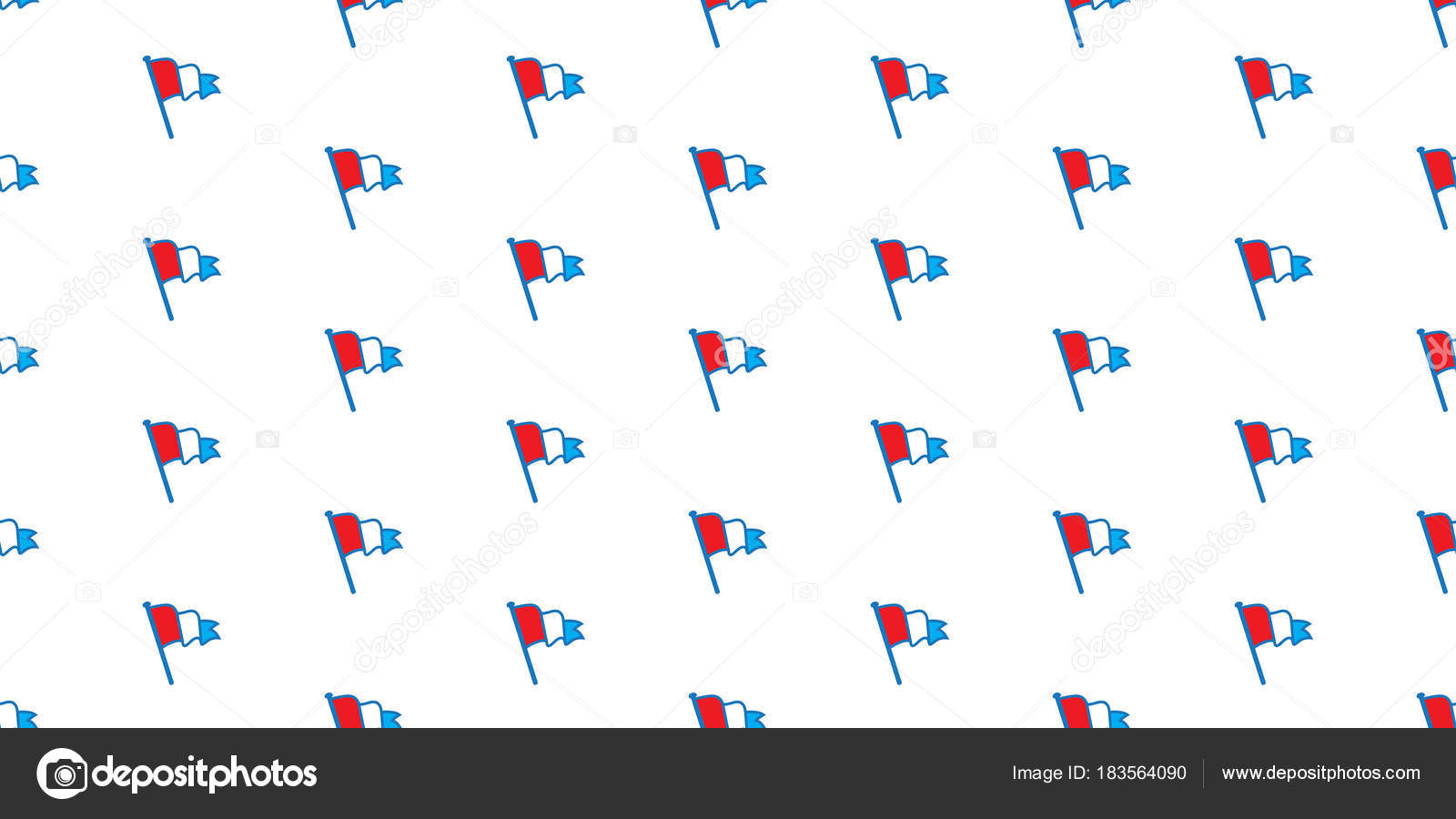 Seamless Pattern Flag Netherlands Vector Wallpaper Isolated