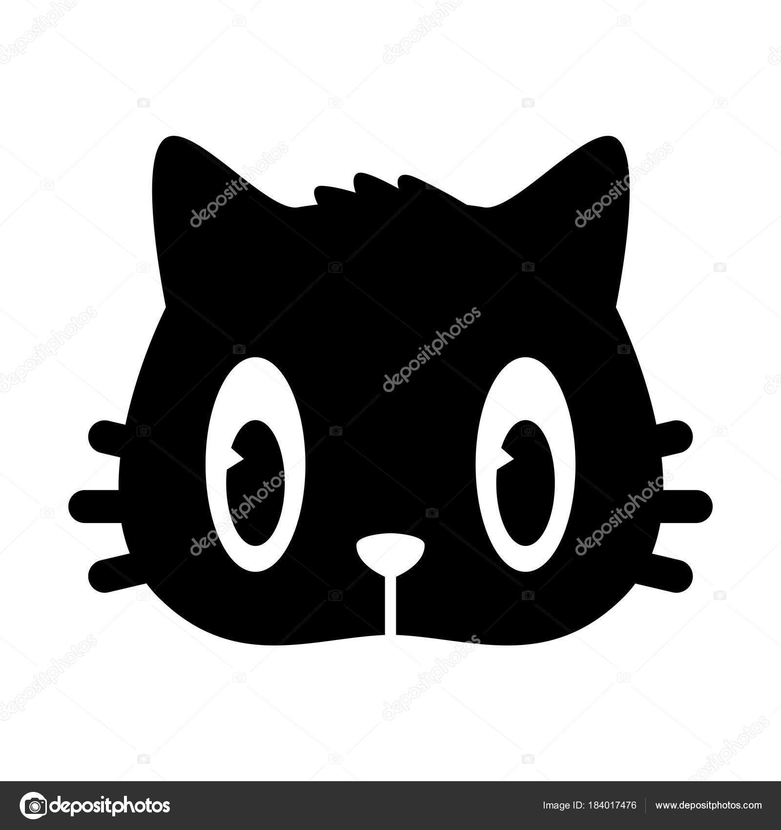 gato gatinho rosto Ícone logotipo desenho animado personagem