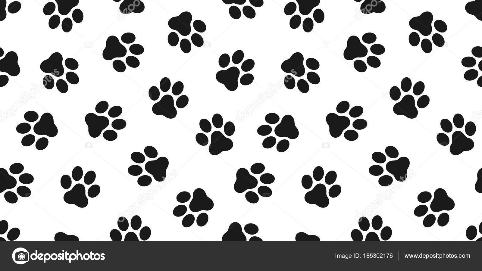 Pantalla Patitas Dibujos Huellas De Perros