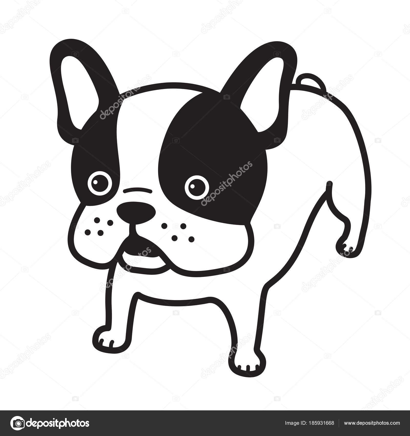 フレンチ ブルドッグ ベクトル犬イラスト漫画キャラクター ホワイト