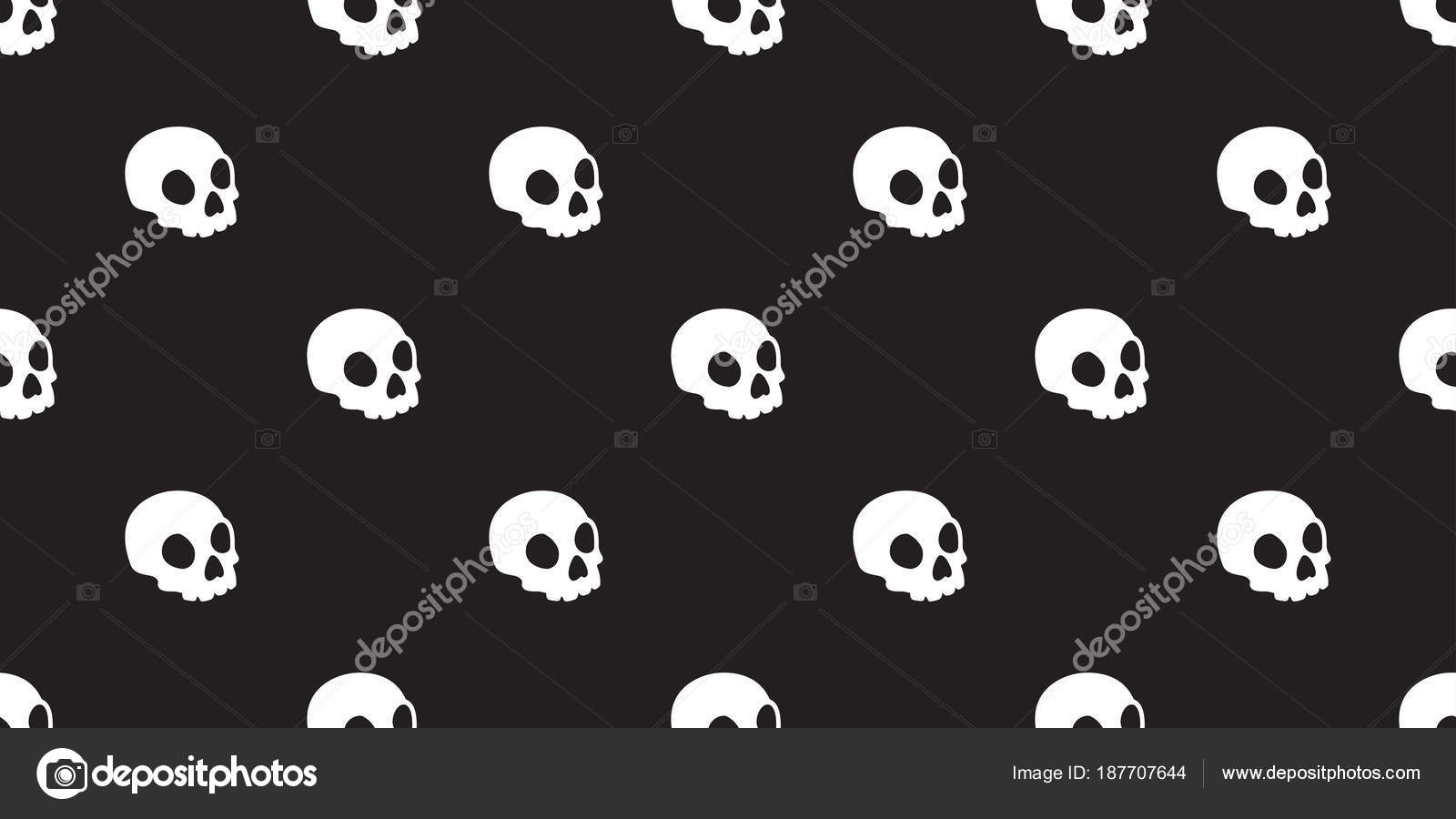 Halloween Skeleton Wallpaper.Wallpaper Skeleton Skull Seamless Pattern Halloween