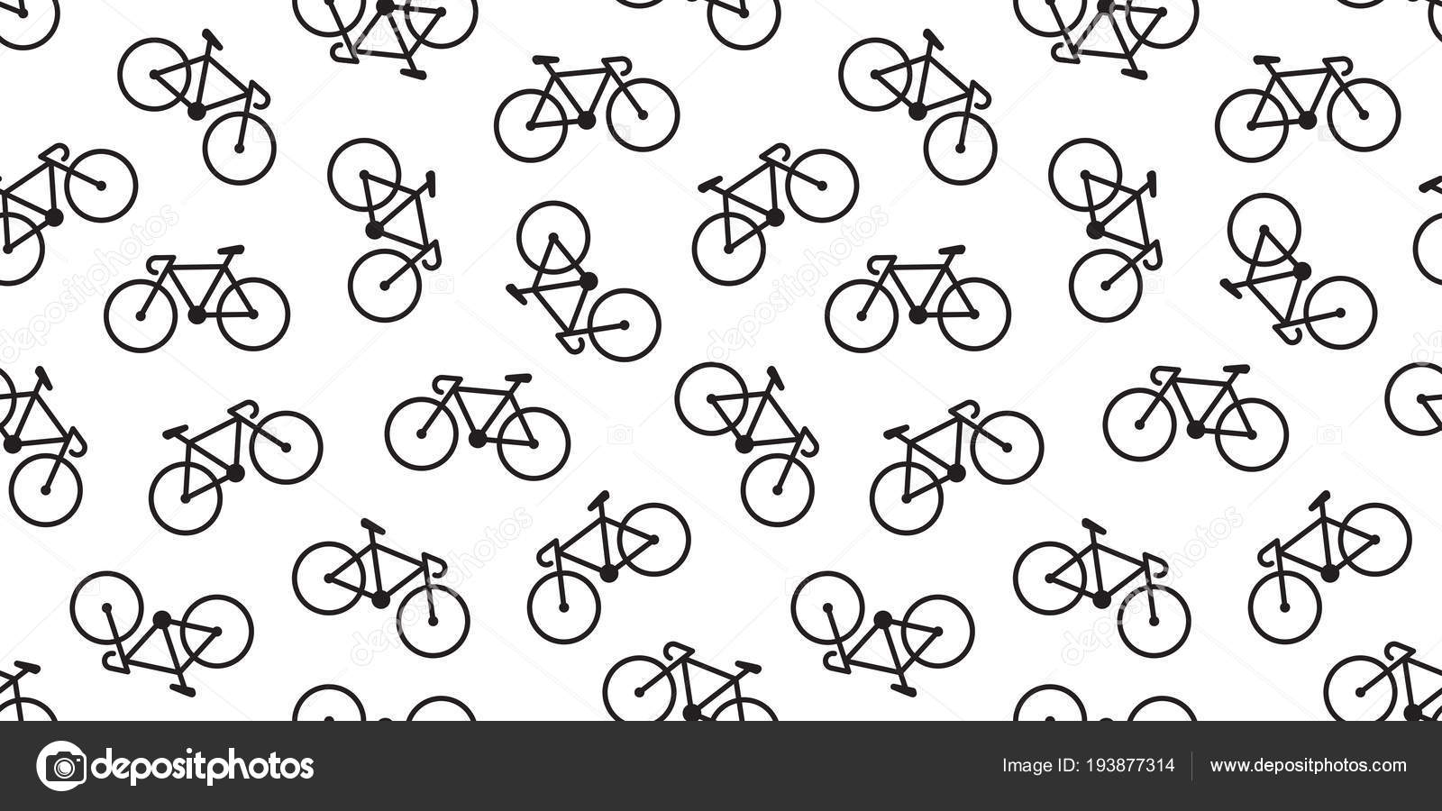 Bicycle Wallpaper Bicycle Seamless Pattern Vector Cycling Isolated Background Wallpaper Vintage Stock Vector C Cnuisin 193877314