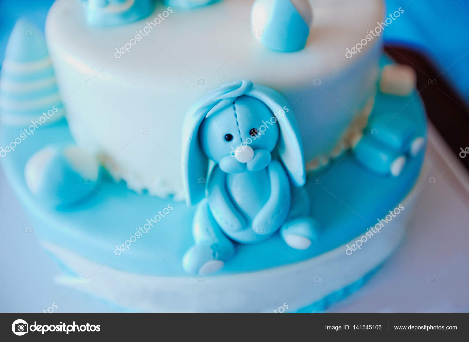 Awe Inspiring Birthday Cake For 1 Year Old Boy Stock Photo C Adaco 141545106 Personalised Birthday Cards Veneteletsinfo