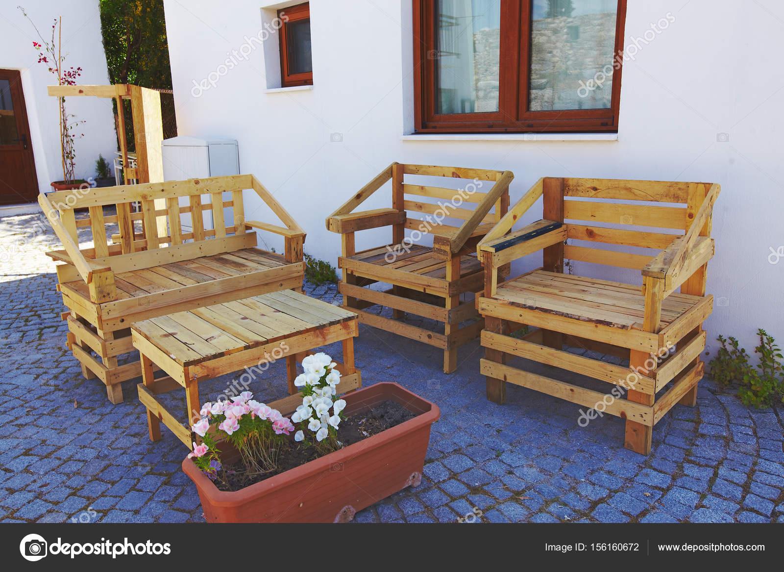 Muebles De Jardin Hechos Con Palets Muebles Para Exterior Con  # Muebles Hechos A Mano