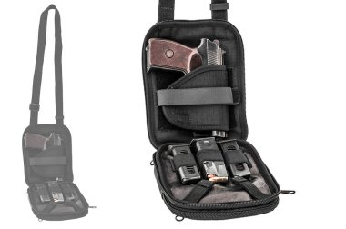 City tactical bag for concealed carrying weapons with a gun insi