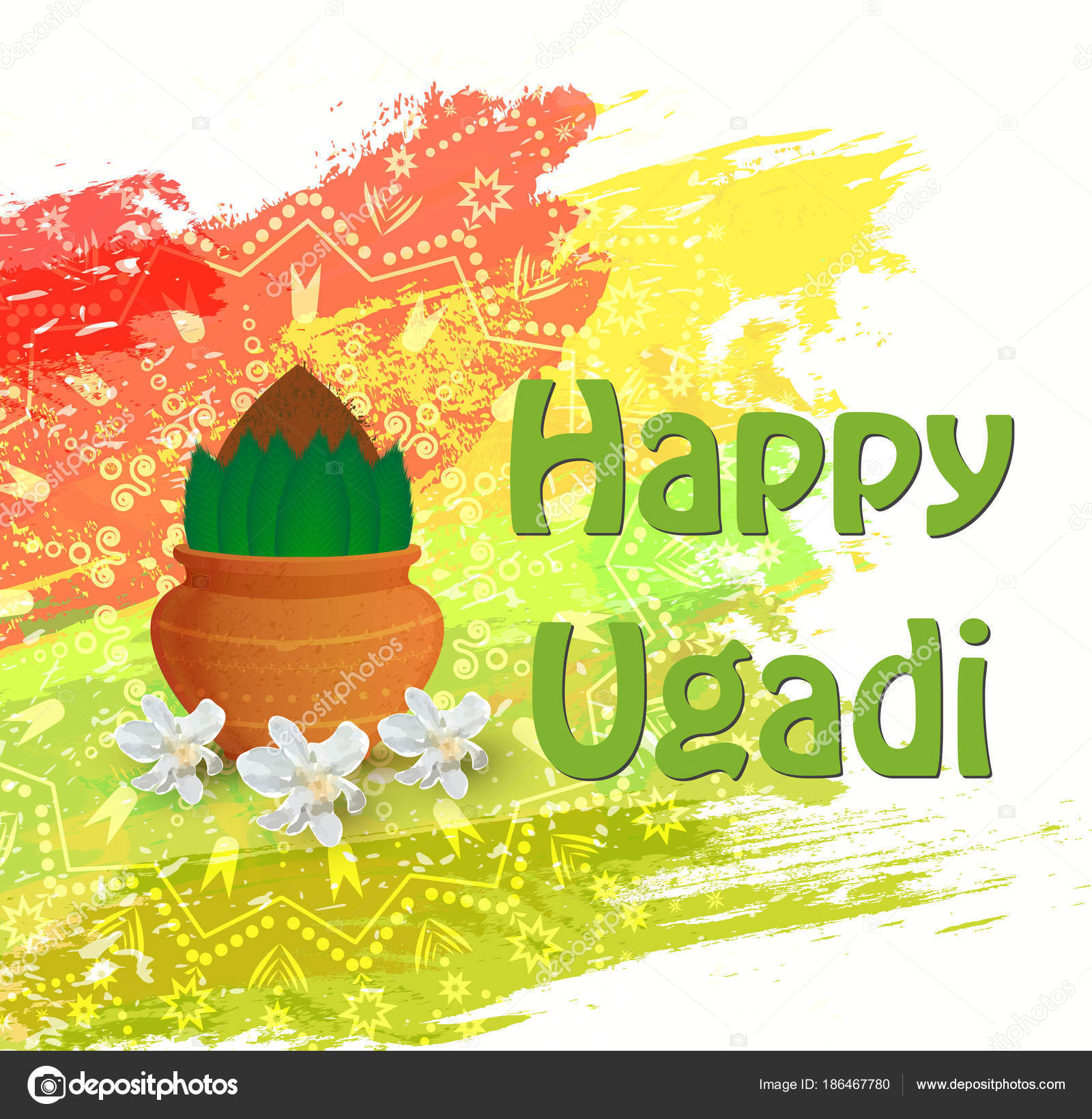 Happy ugadi card stock vector delakryz3gmail 186467780 happy ugadi card stock vector m4hsunfo