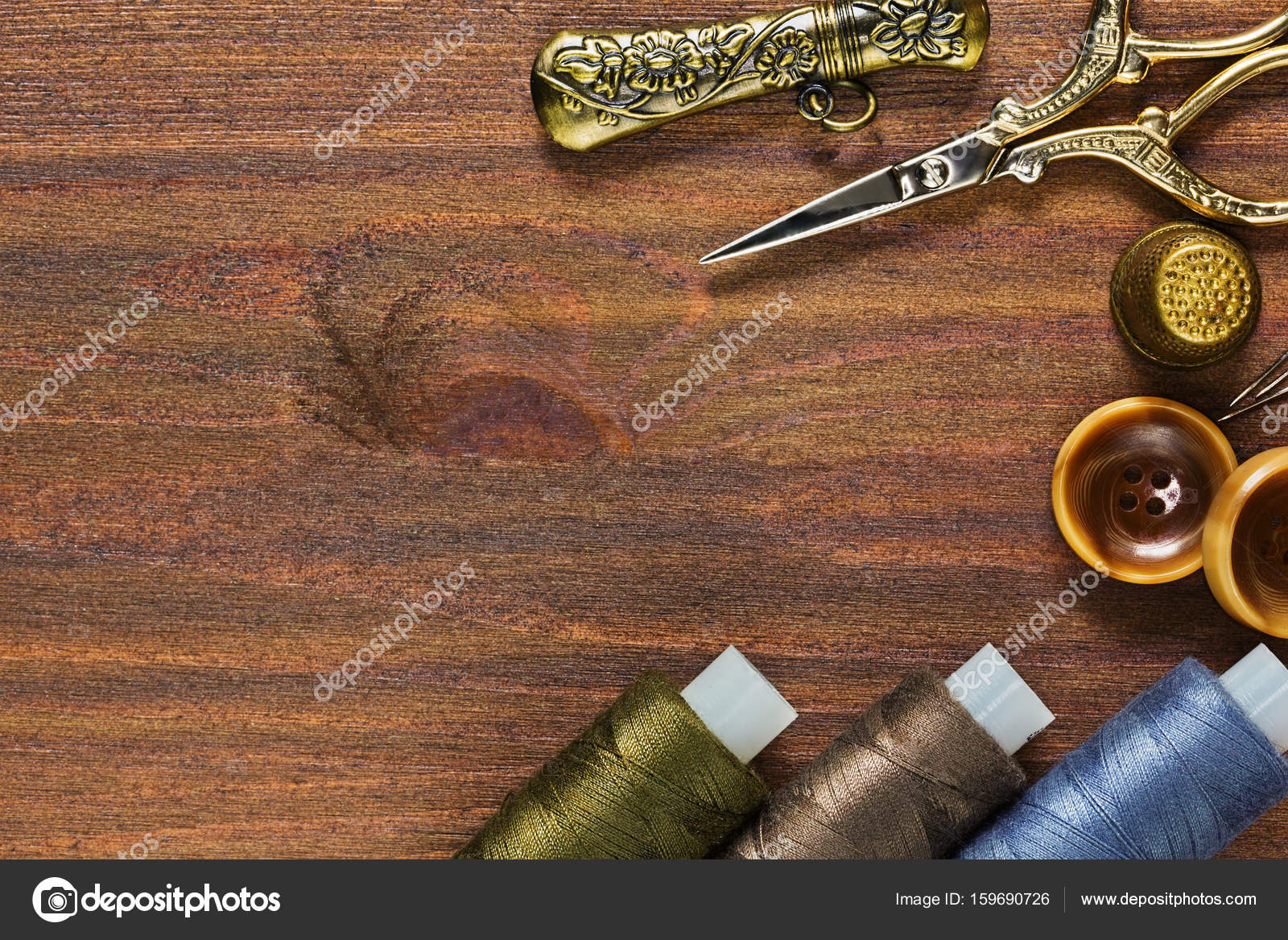 Vintage Handicraft Tools And Sewing Materials And Accessories