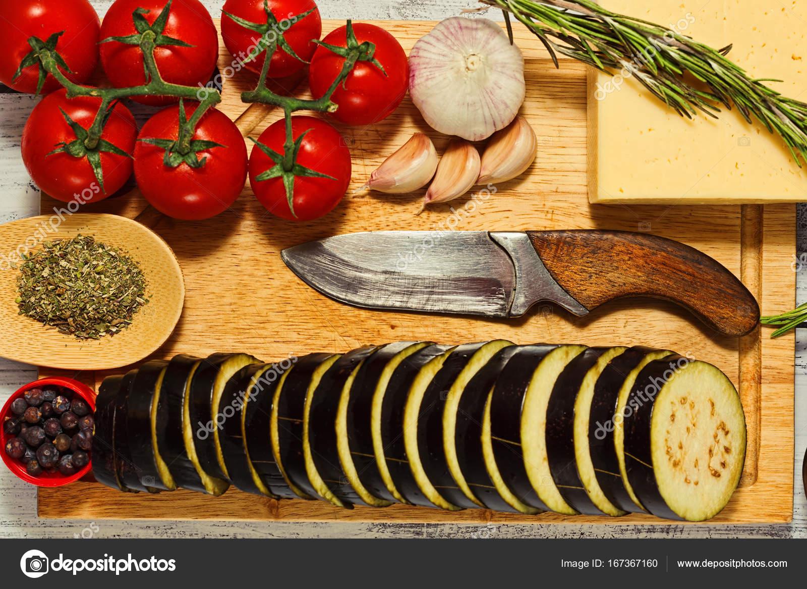 Concepto De Cocina Hogar, Materia Prima Plana Lay