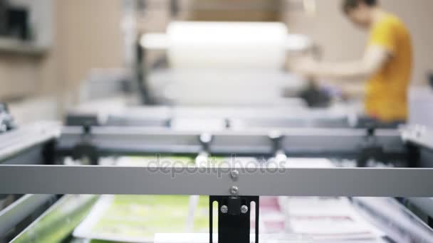 Tilt down of industrial printer working