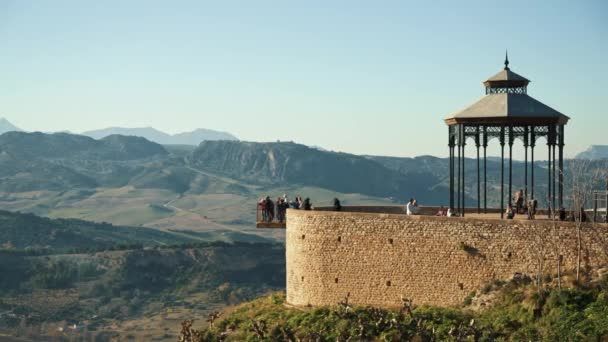 Bandstand in beautiful Ronda city, with an amazing viewpoint over landscape.