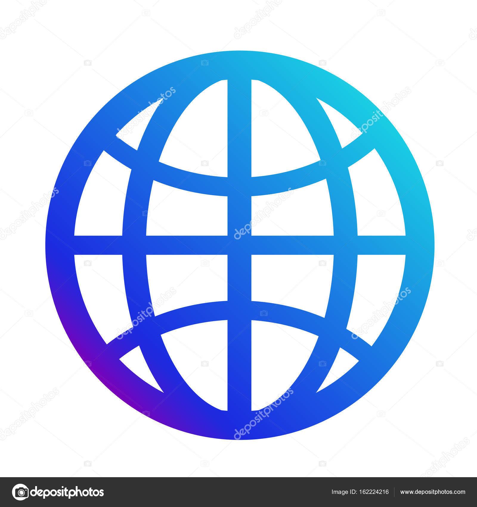 Ic ne internet symbole du site web signe de la plan te for Logo sito web