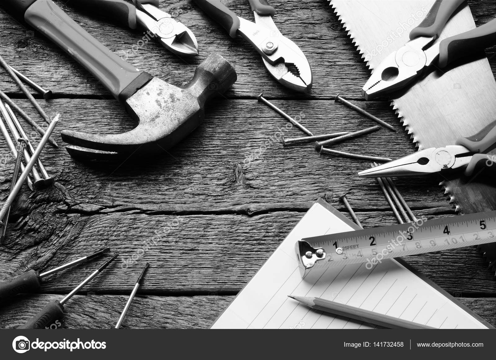 Wondrous Work Bench And Hand Tools Background Stock Photo Dailytribune Chair Design For Home Dailytribuneorg