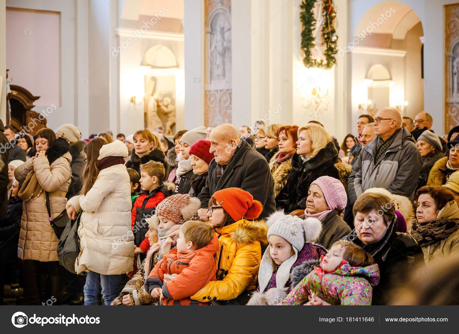Natale Cattolico.Minsk Bielorussia Dicembre 2017 Natale Cattolico Servizi