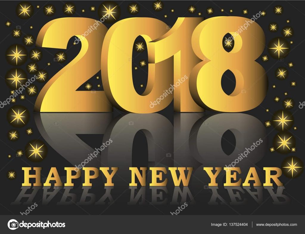 Happy new year 20187 greeting card stock vector alfonsodetomas happy new year 20187 greeting card stock vector kristyandbryce Gallery