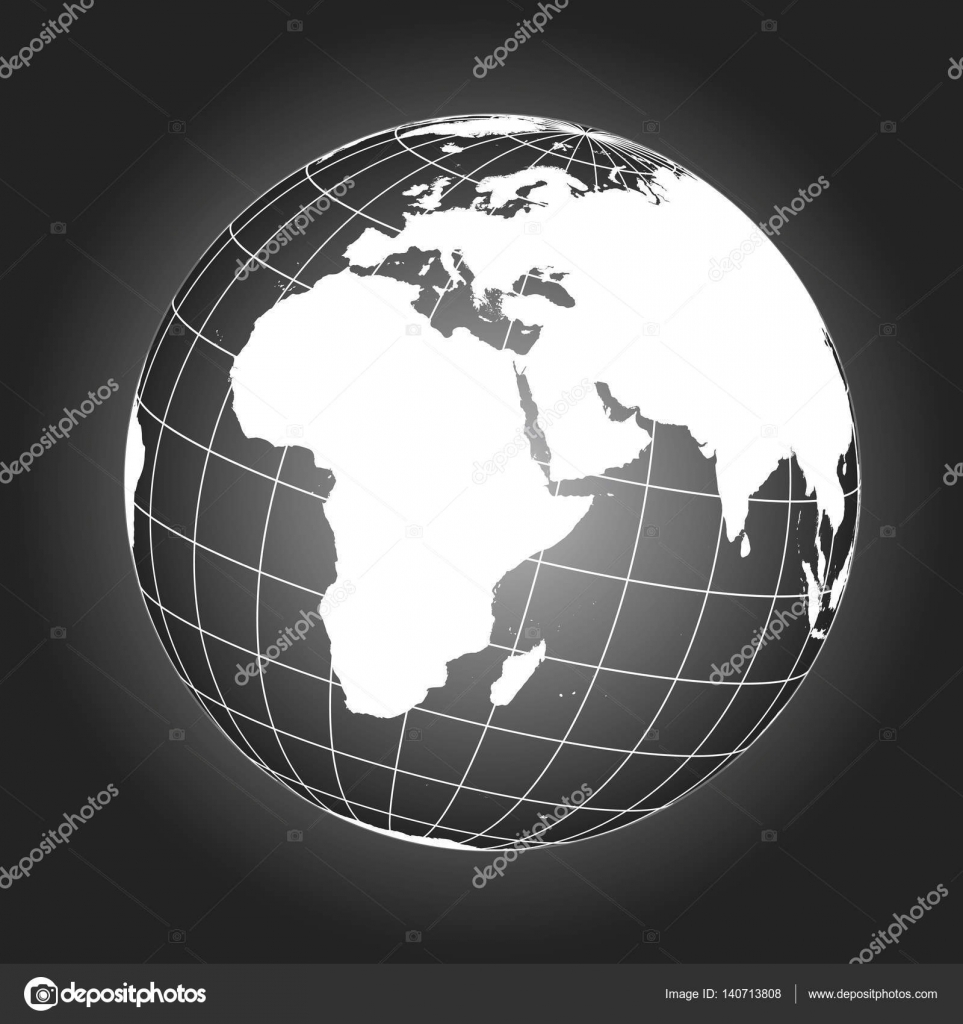Europe and africa map in black and white stock vector europe and africa map europe africa russia asia north pole greenland earth globe worldmap elements of this image furnished by nasa vector by gumiabroncs Choice Image