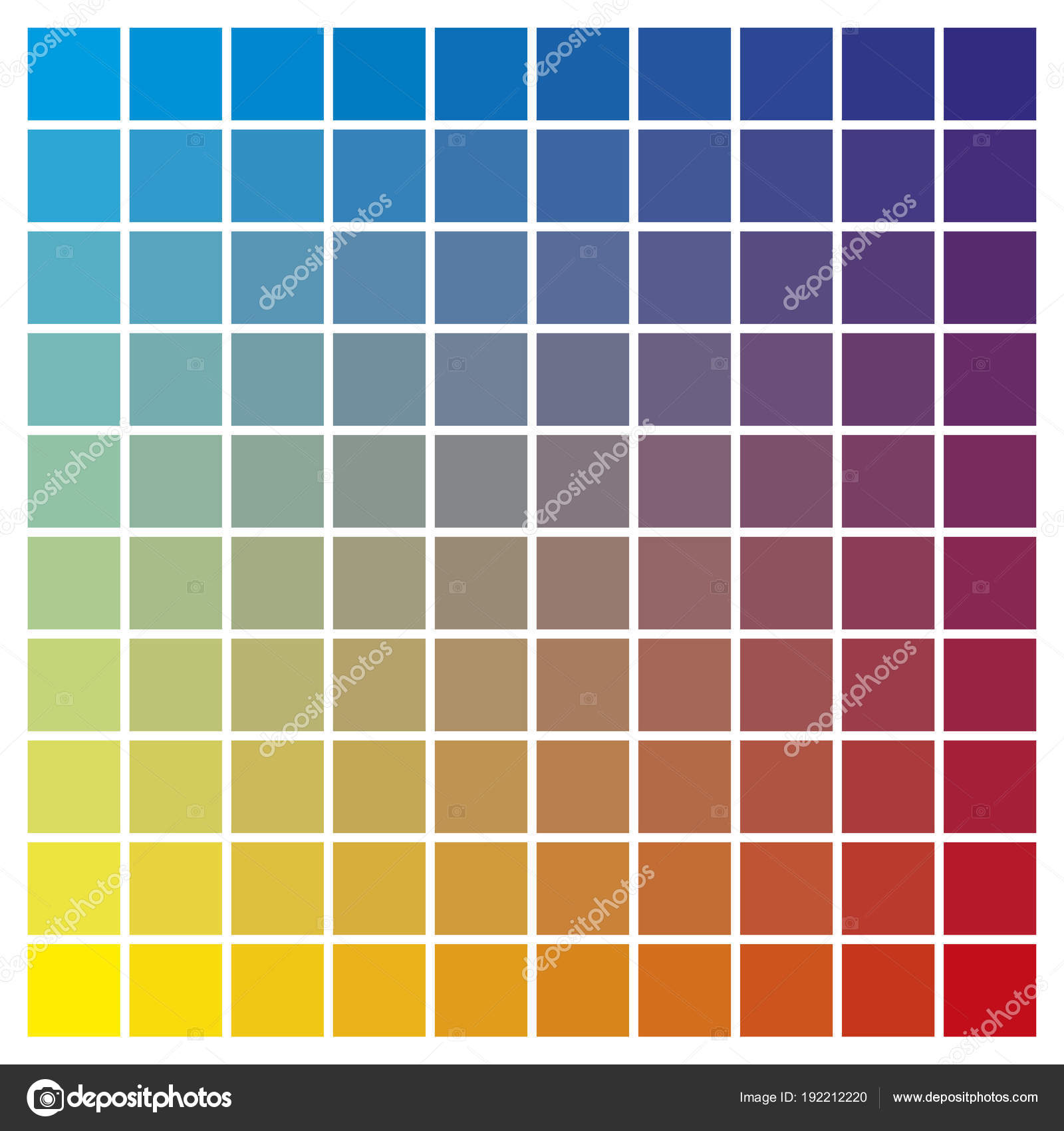 Color Chart Cyan Yellow Magenta Print Production Color Guide Tin