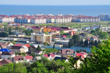 the view from the mountains in the Adler district of Sochi