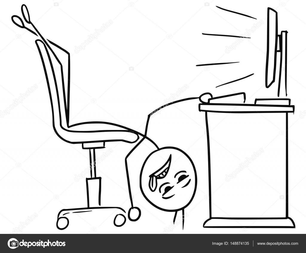 Bürostuhl Comic
