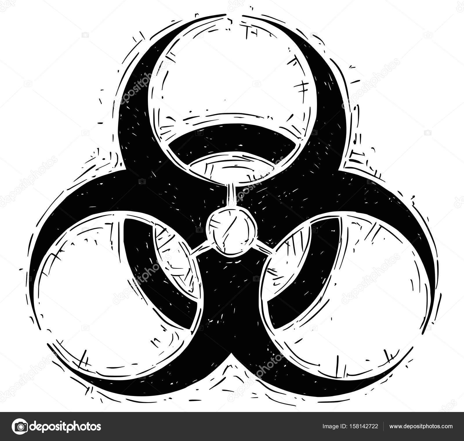 Biohazard Symbol Vector Drawing Stock Vector Ursuszdeneksasek