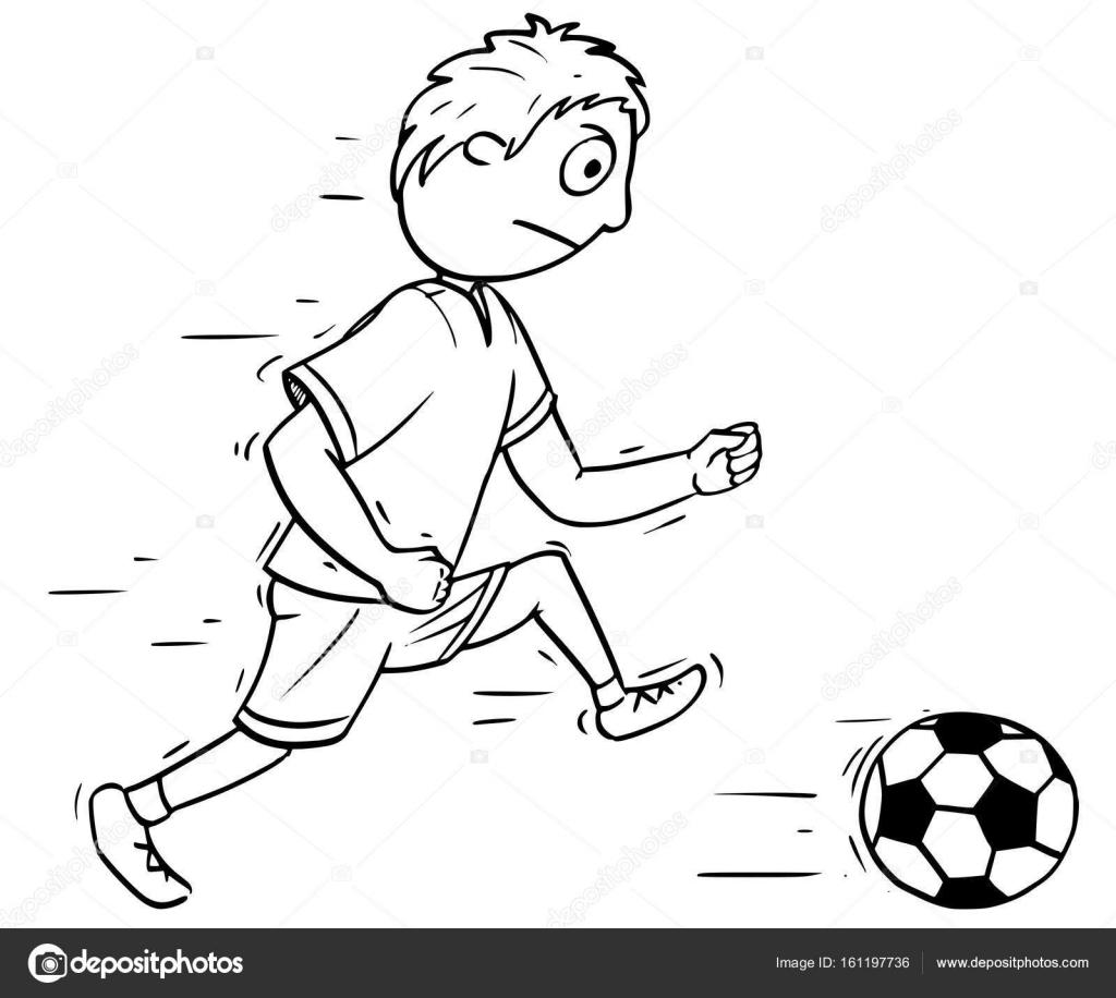 Imágenes Padre E Hijo Jugando Futbol Para Colorear Ilustración De