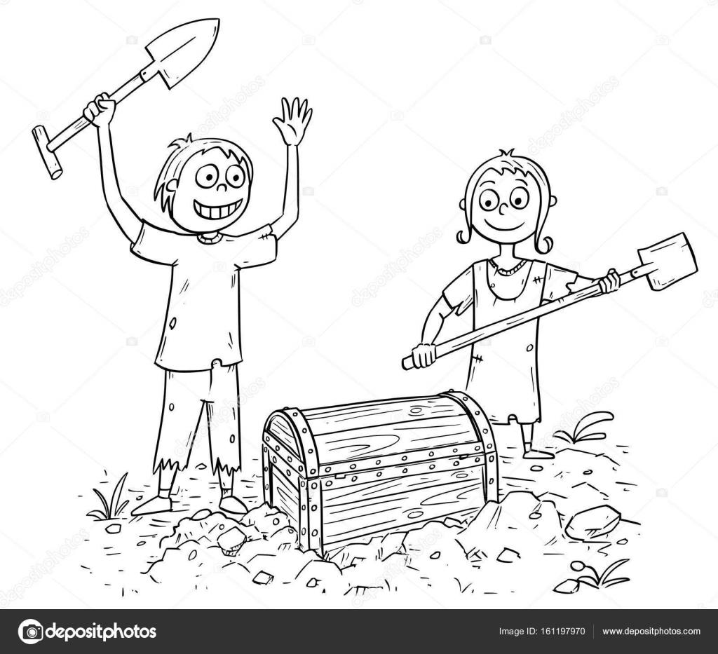 ilustração dos desenhos animados de menino e menina que encontrou um