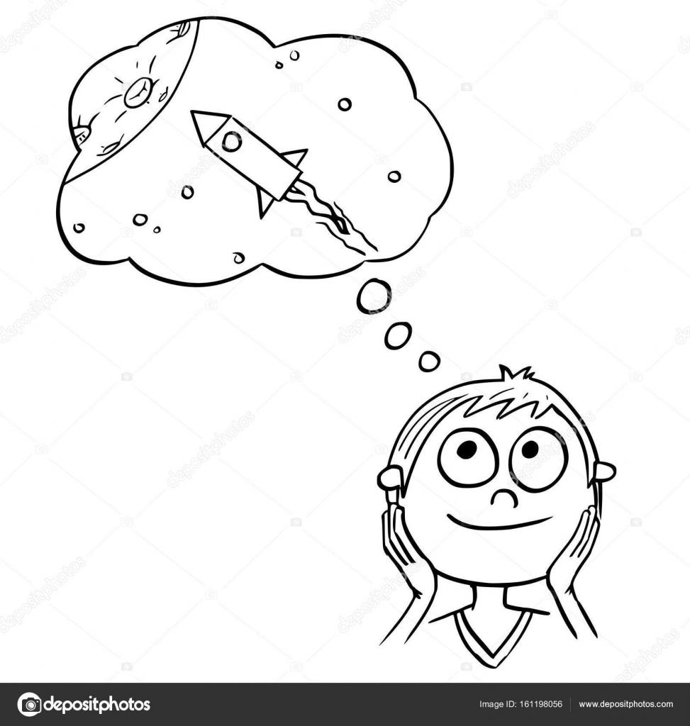 Dibujos Niños Soñando Ilustración De Dibujos Animados De Niño