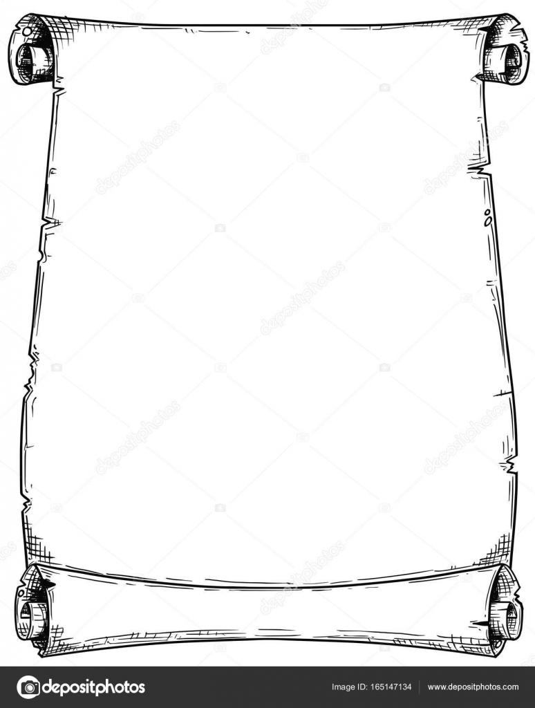 Comic-Zeichnung von leeren Hintergrund Scroll — Stockvektor © ursus ...