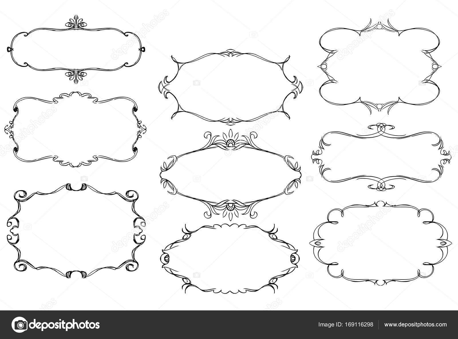 conjunto de Marcos ornamentales — Vector de stock © ursus ...