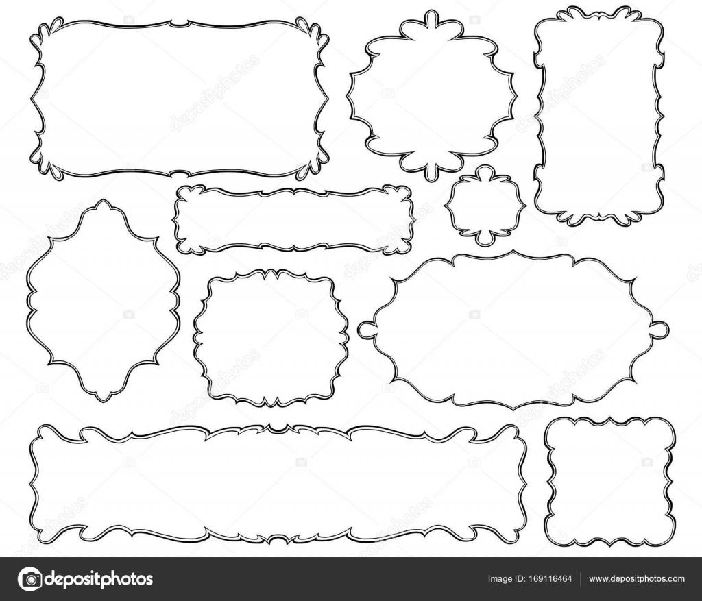conjunto de Marcos ornamentales — Archivo Imágenes Vectoriales ...