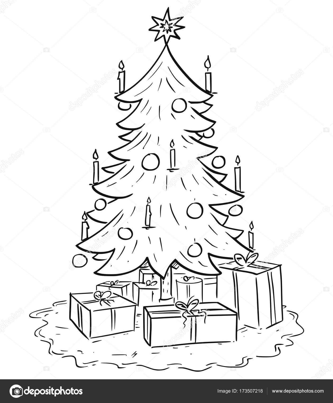 Cartoon Illustration Of Christmas Xmas Tree With Gifts Stock Vector C Ursus Zdeneksasek Com 173507218 Cartoon tree low poly 3d model. depositphotos