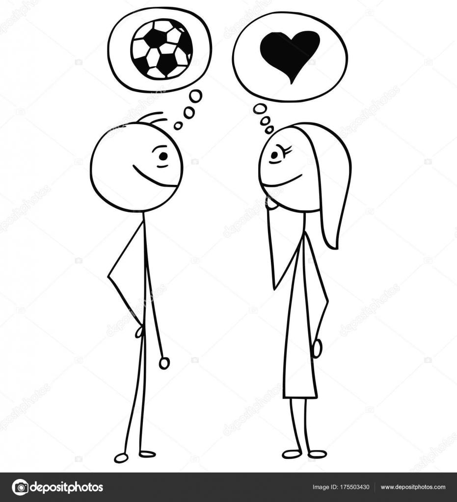 Vector De Dibujos Animados Del Hombre Y La Mujer Hablando