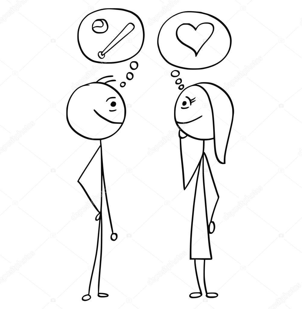 Dibujos: Hombre Y Mujer Hablando