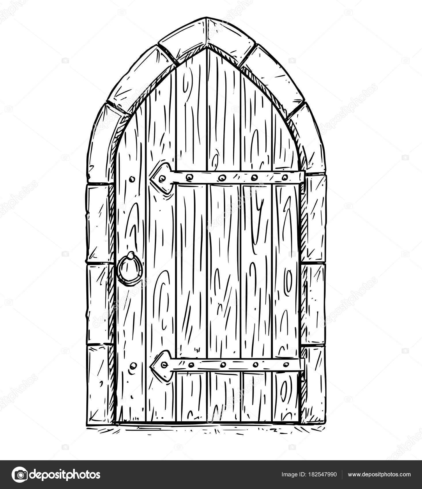 Dibujos Puerta De Castillo Dibujo Vector De Dibujos