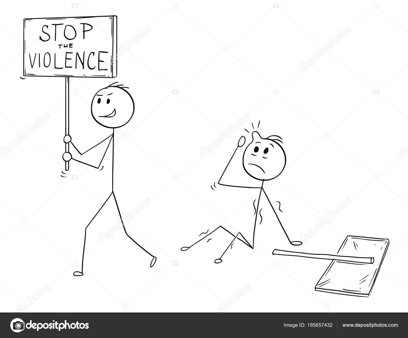 Dibujos Para Colorear De Violencia Dibujos Animados De