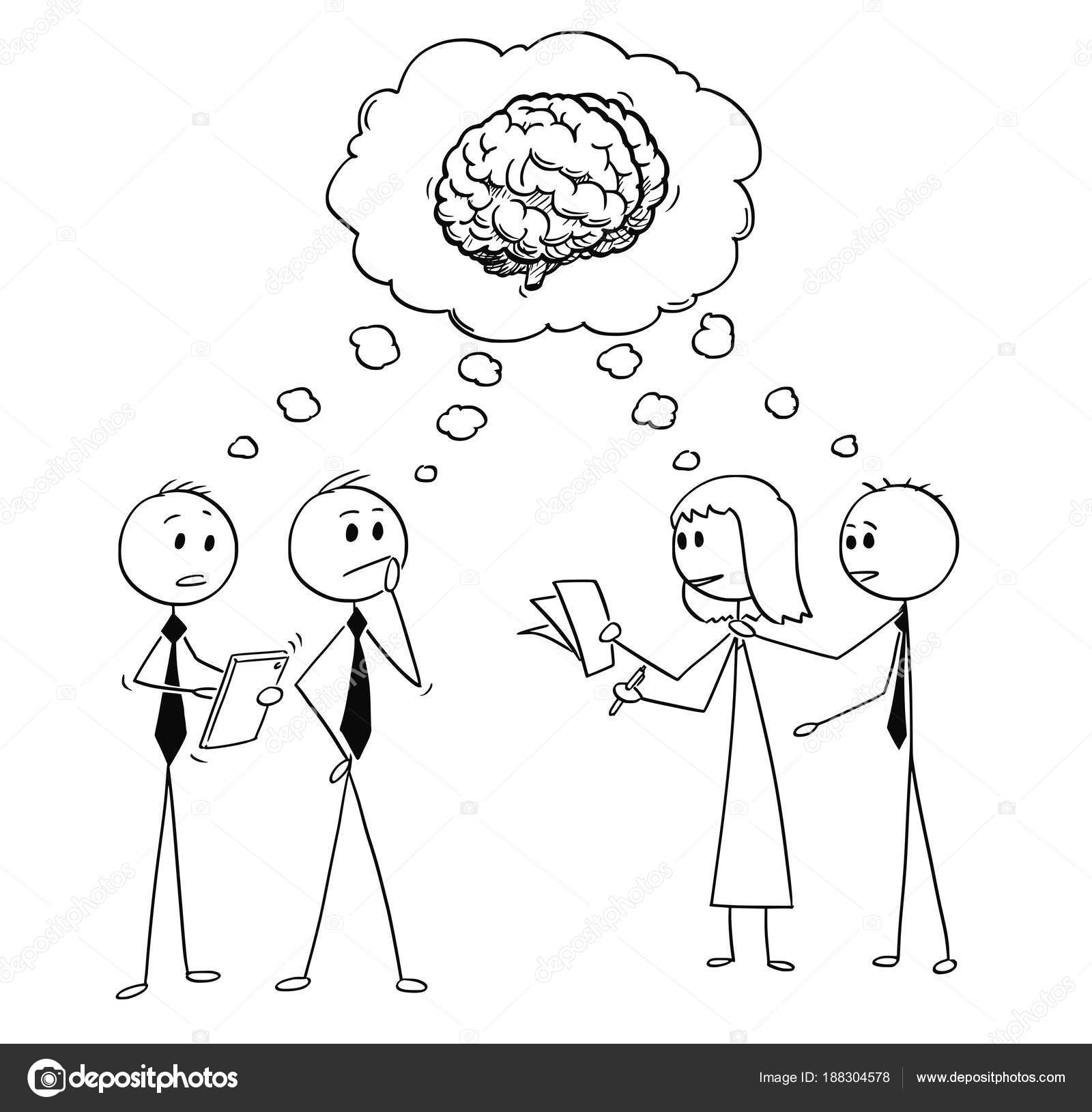 Dibujos Persona Pensando Dibujos Animados De Personas Pensando En