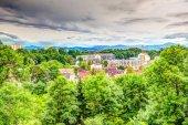 Fotografie Stadtbild von Kempten in der Nähe der Alpen