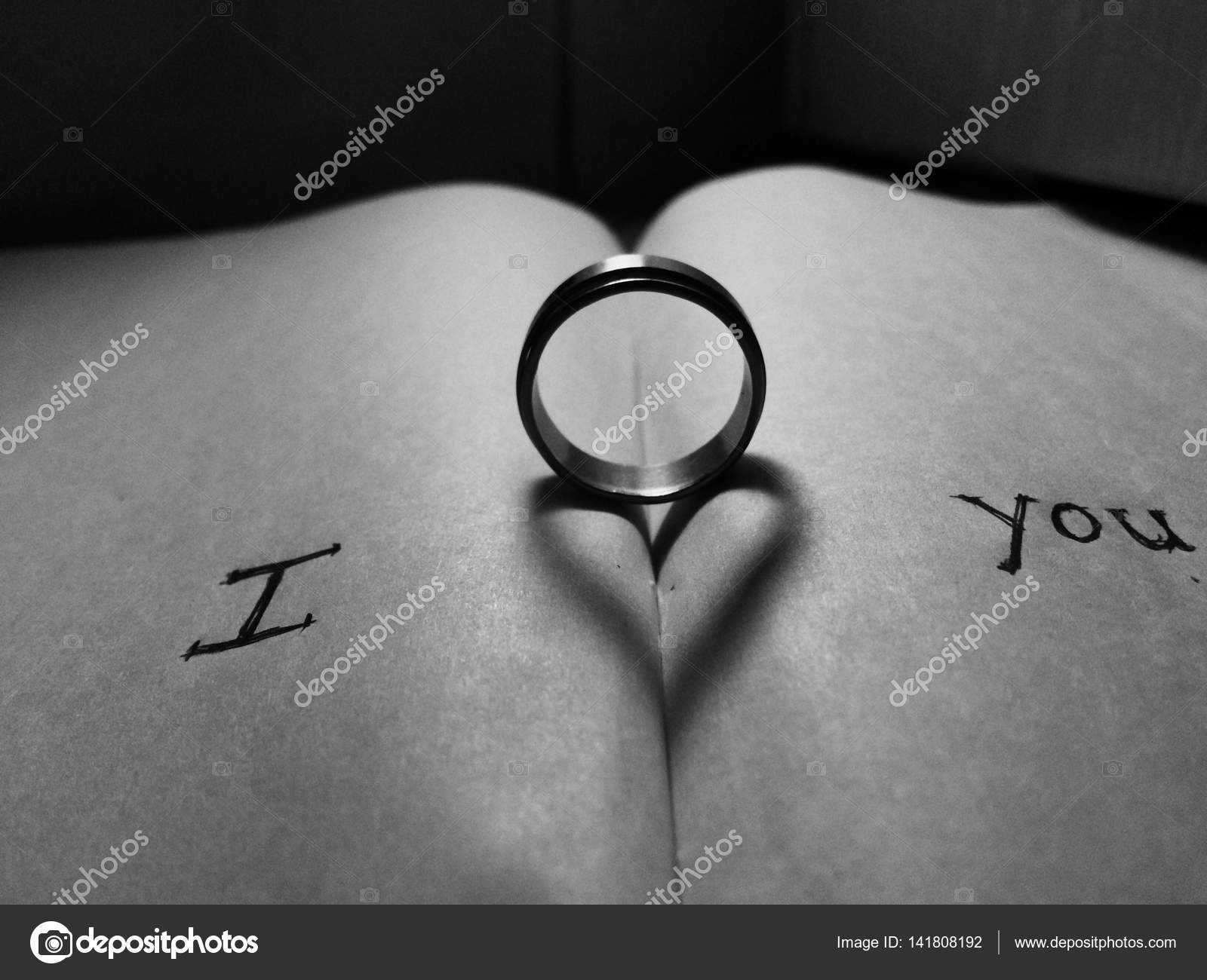 Love Message In A Notebook With Ring And Shadow Of Heart Yields Photo By Mohan308 Clashot