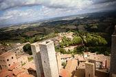 Fotografie Blick vom höchsten Turm in San Gimignano