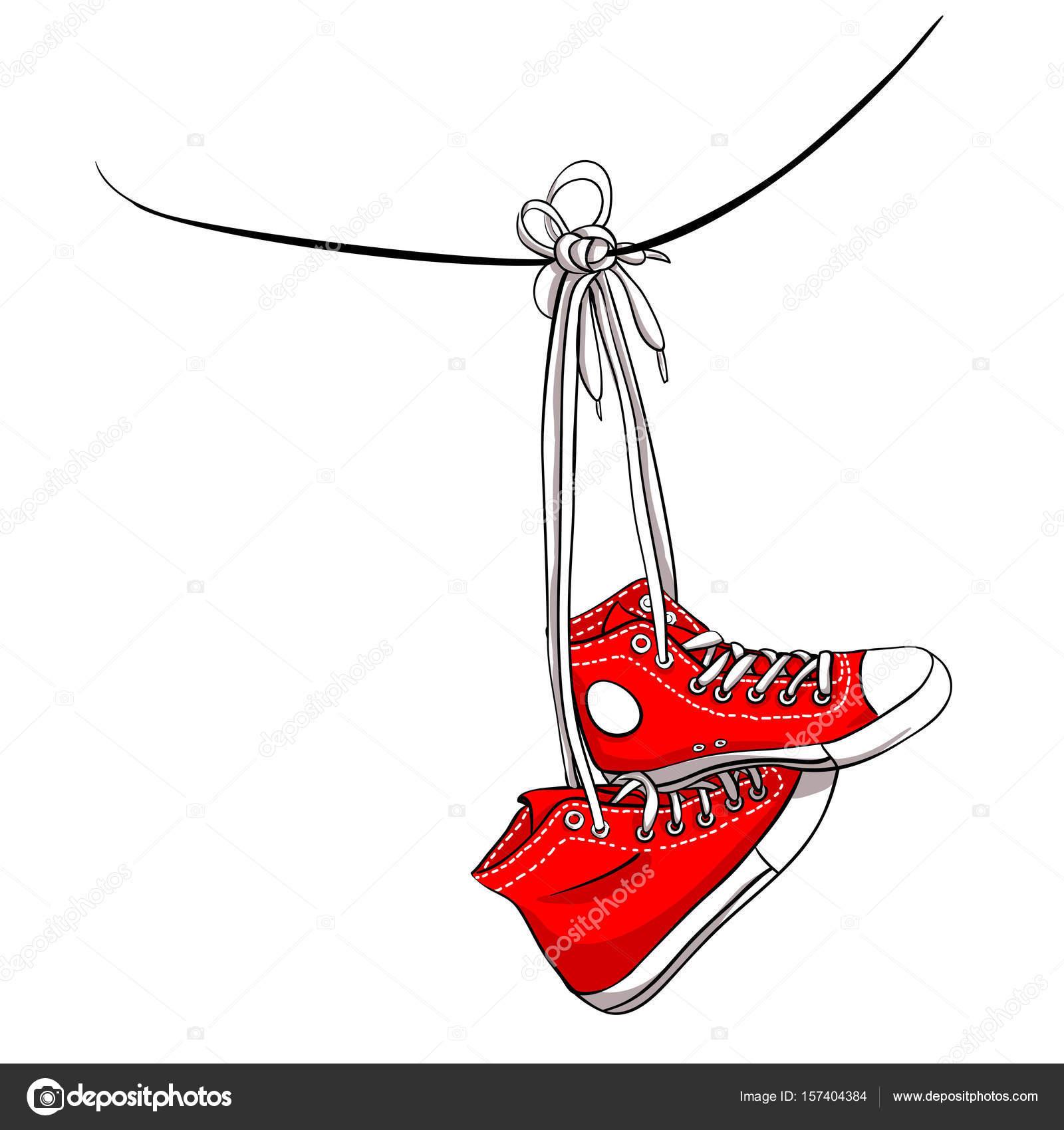 sneakers — Stock Vector © nixes #157404384